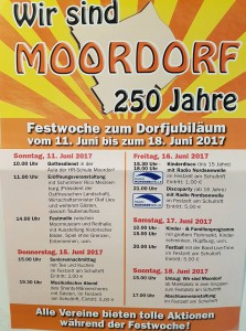 Plakat 250 Jahre Moordorf